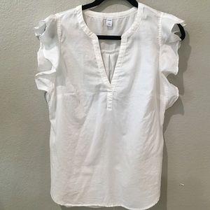 Flowy ruffle sleeve blouse